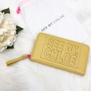 NWT See By Chloe Logo Leather Wallet